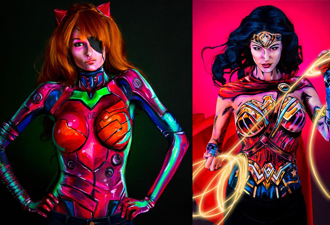 Stunning Super Heroes Realistic Body Painting by Kay Pike