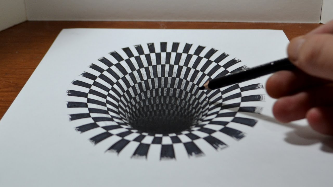 Mind Blowing Optical Illusion drawing by Jonathan Harris