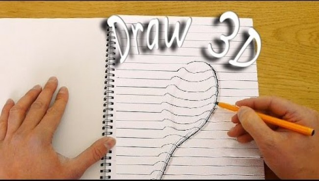 How to Draw in 3D by Dave Hax - 3D illusion Drawings