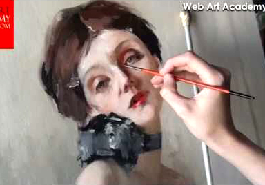 Oil painting on canvas Demonstration video series by webartacademy