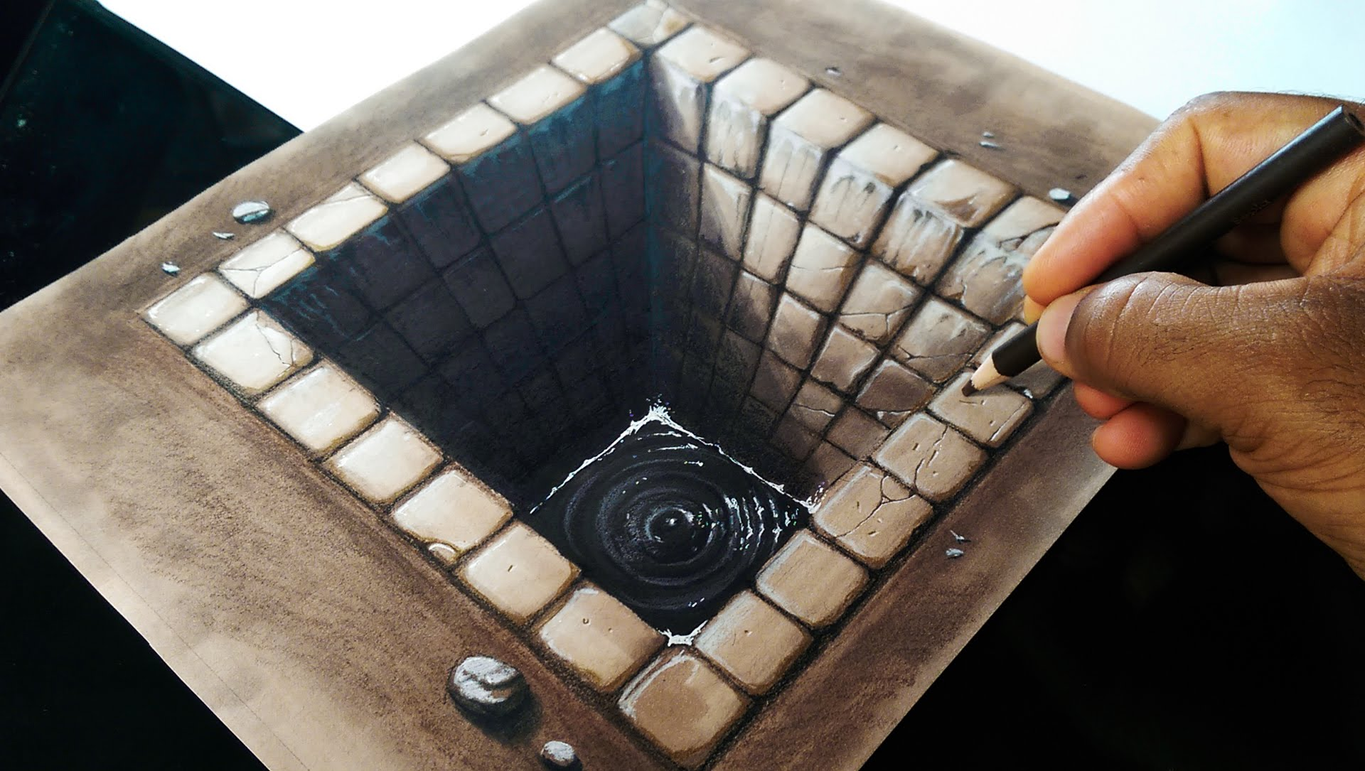 Drawing a 3d brick hole by miltoncor