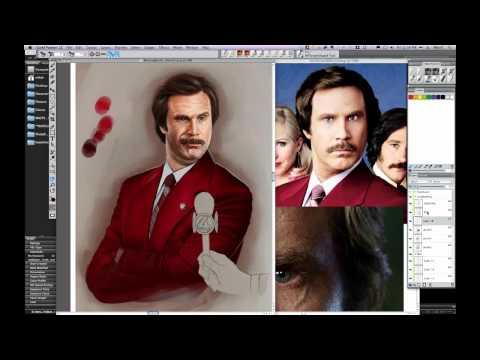 Video Tutorial: Digital Painting of Mike Thompson