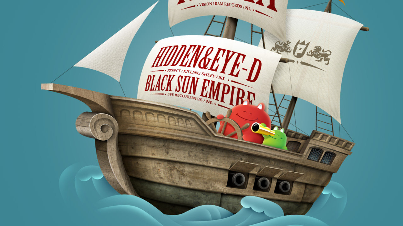 Photoshop Tutorial : Pirate Ship Illustration