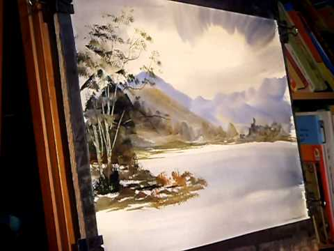 Watercolour painting tutorial buttermere paintings for Video tutorial on watercolor painting