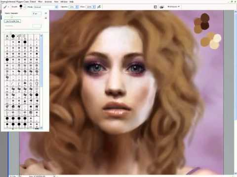 Painting wavy hair in Photoshop with Marta Dahlig