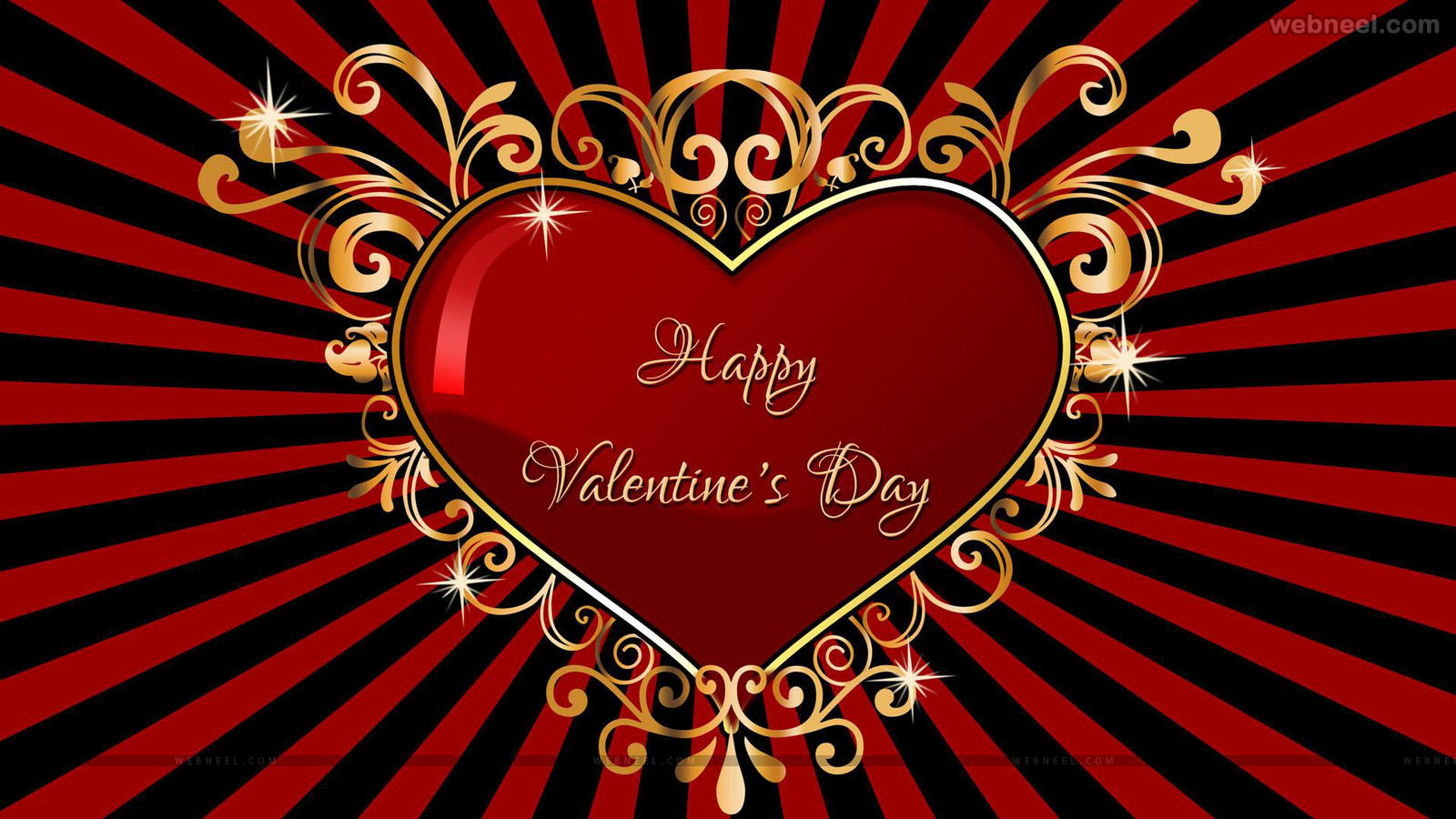 happy valentines day heart wallpaper - hd wallpaper