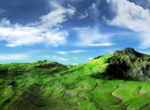 green mountains wallpaper