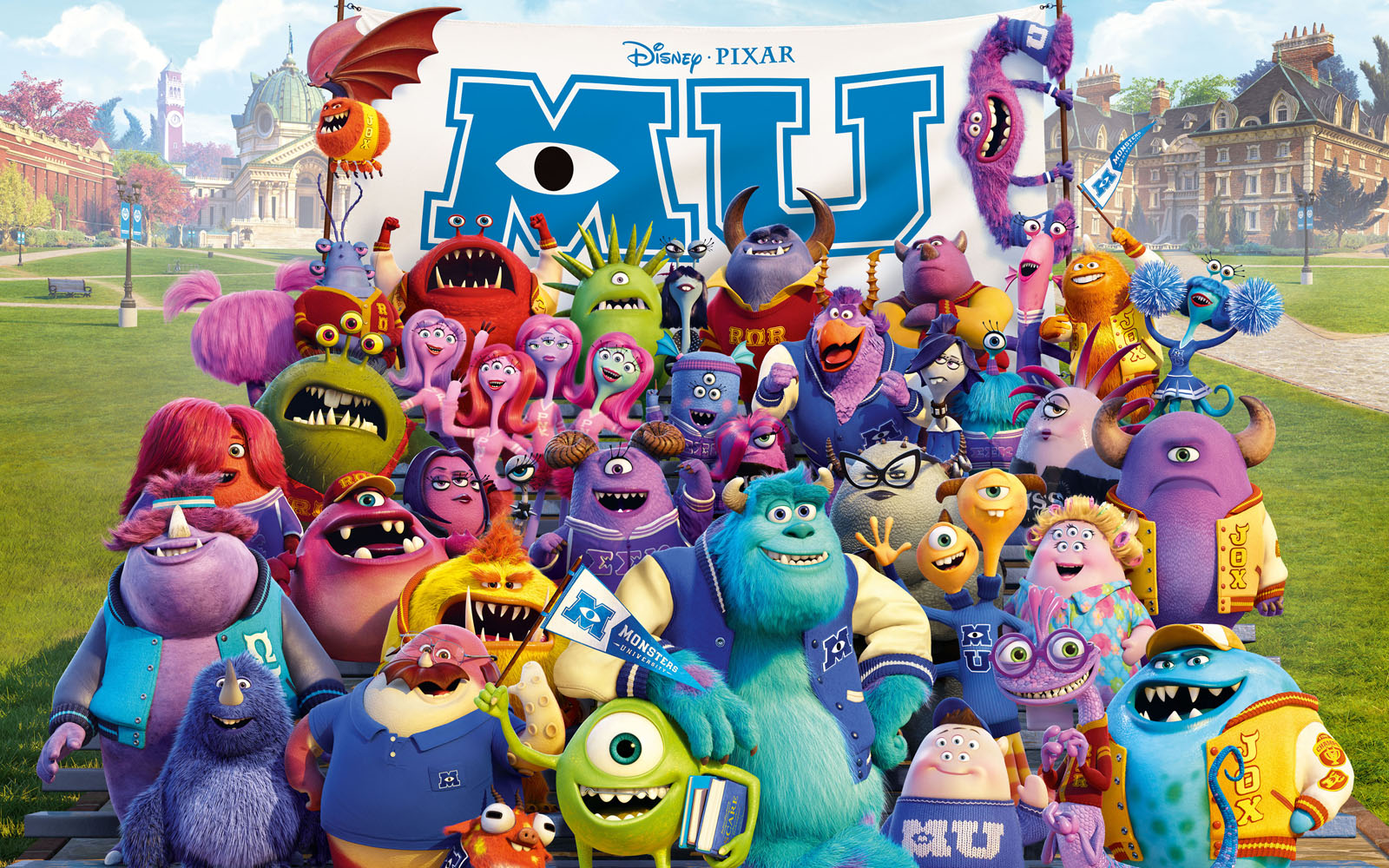 Monster University Disney Movie Wallpaper Rhymecouncilonline