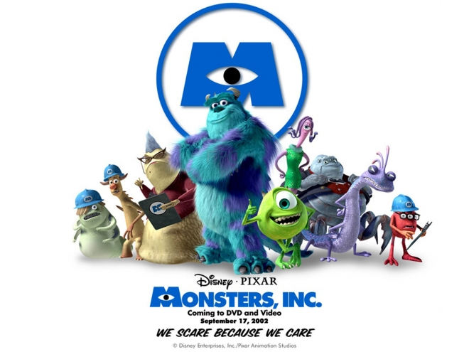 monsters inc movie wallpaper