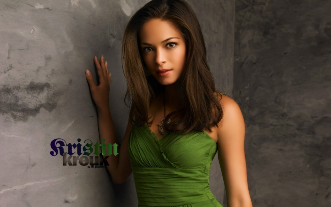 kristin kreuk green dress wallpaper