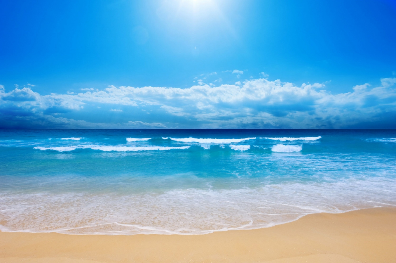 sea ocean wave beach sand wallpaper