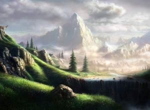 1 mountain digital art wallpaper by feliks