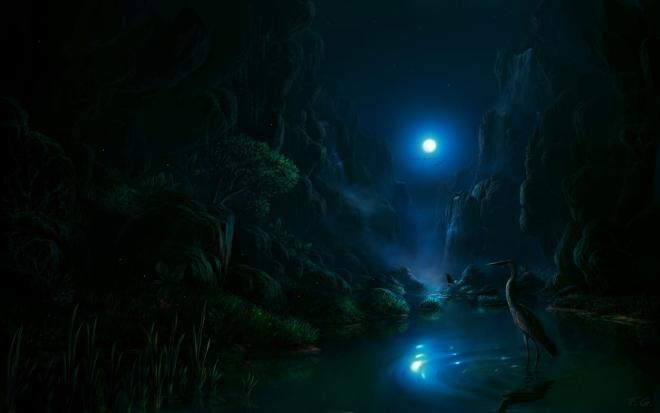 night matte painting by feliks wallpaper