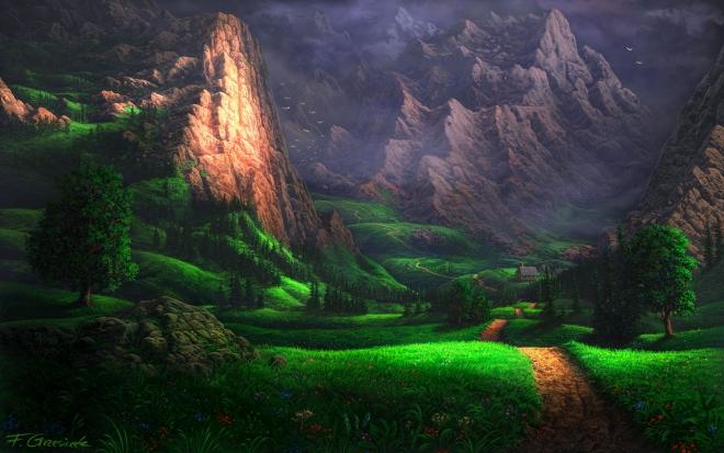 mountain digital art