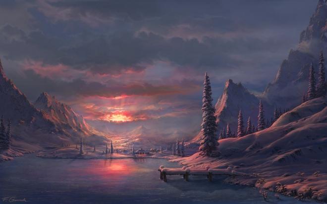 sunset digital art