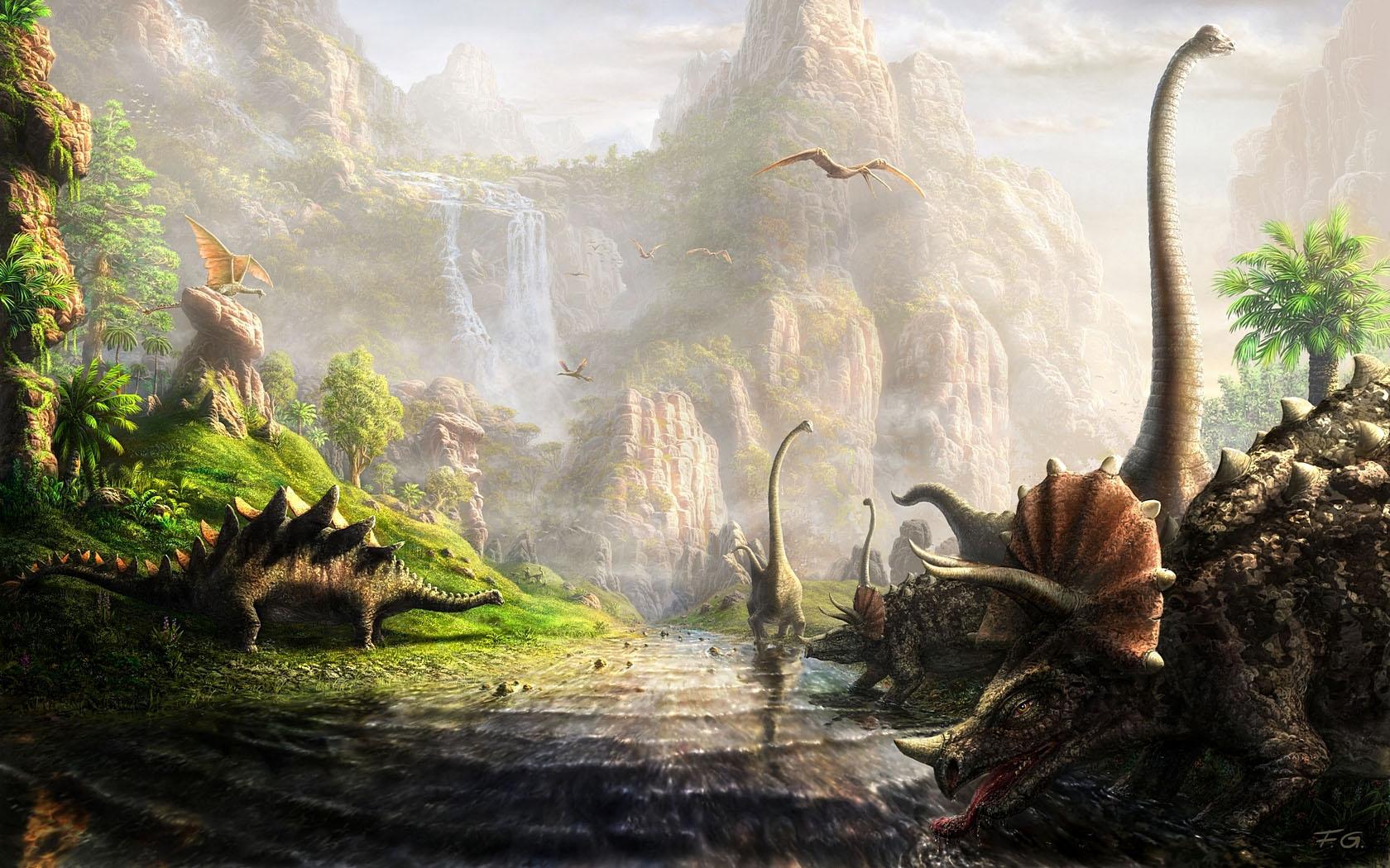 dinosaurs digital art