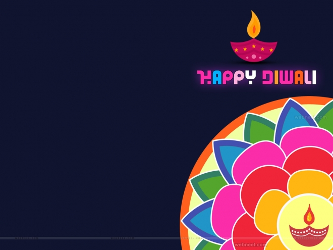 colorful diwali wallpaper design by webneel