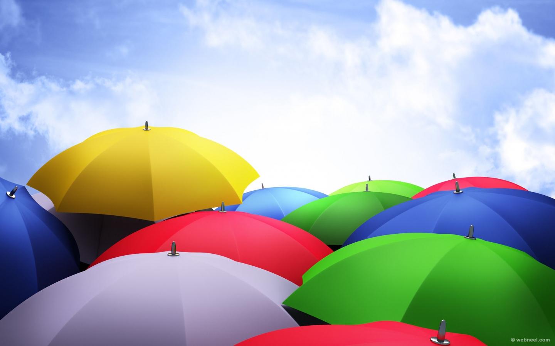 rain wallpaper umbrella