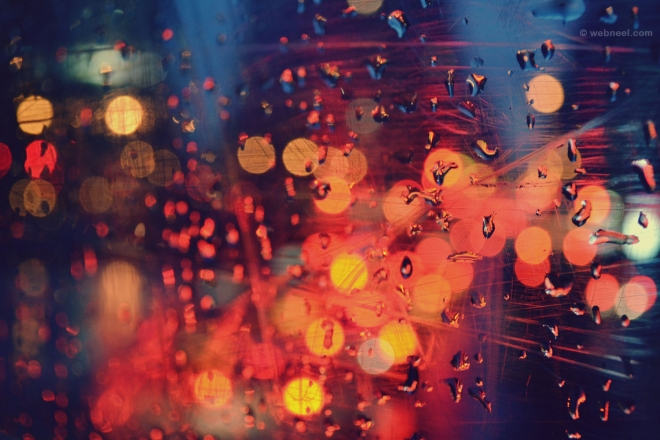 rain wallpaper night light by bokeh