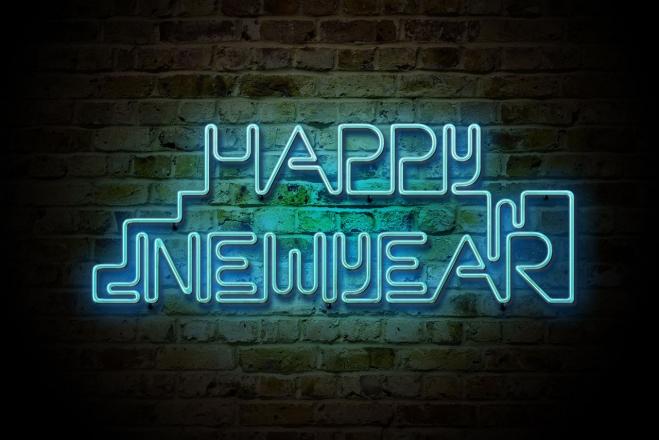 happy new year Neon Light
