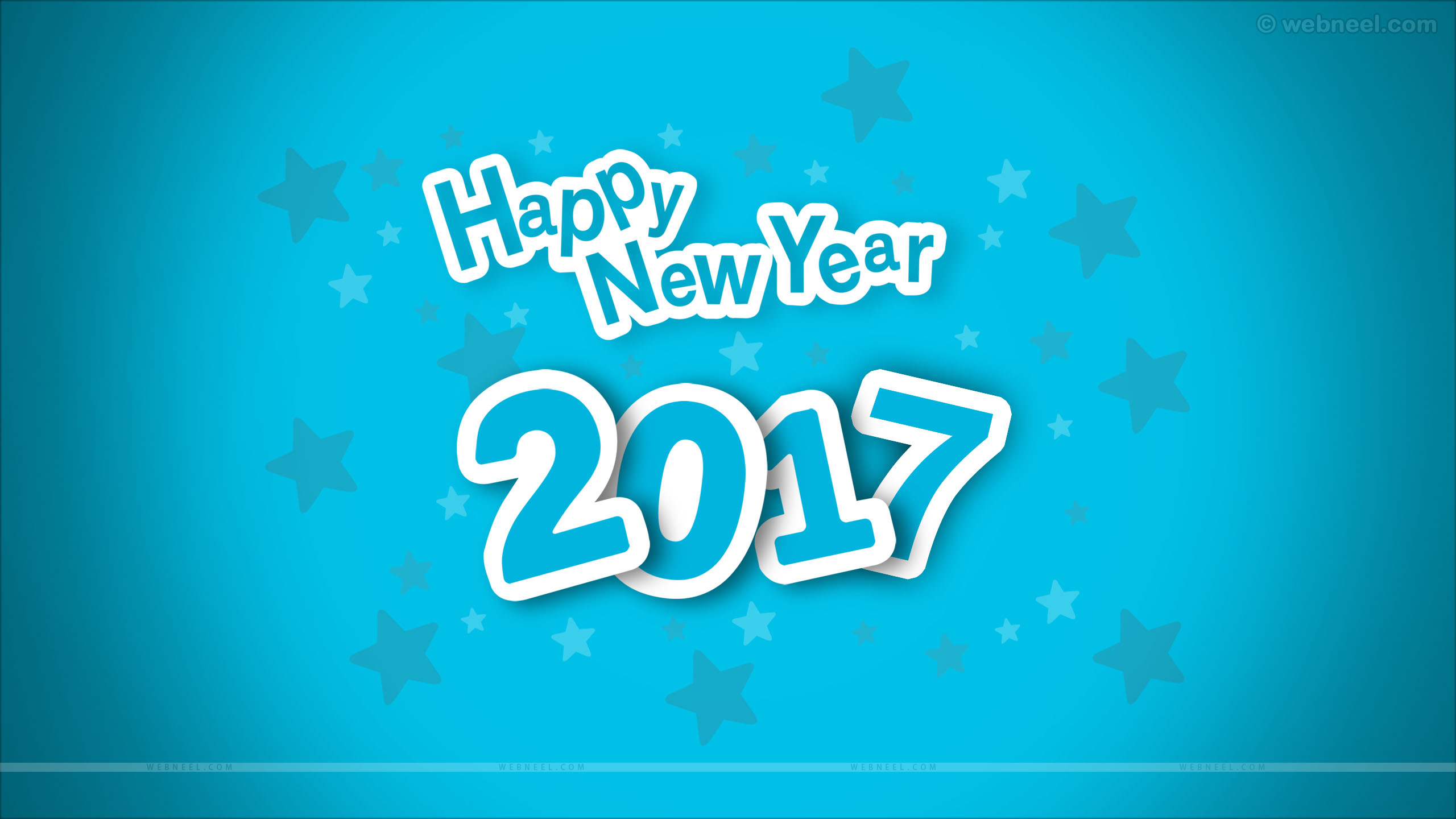 new year wallpaper blue