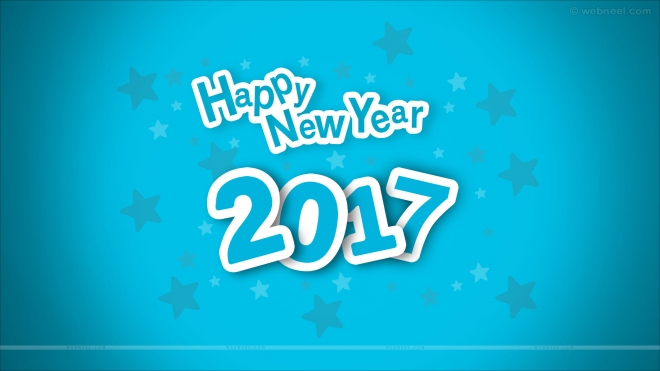 new year wallpaper blue
