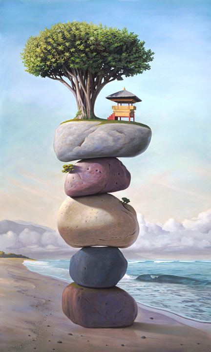 surreal oil painting dream stones paul david bond beautiful creative mind blowing surrealism surrealistic