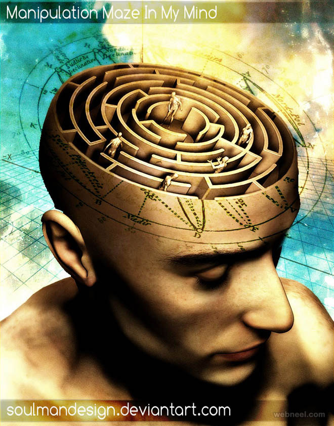 photo manipulation maze brain