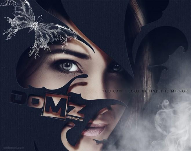 digital art woman retouching
