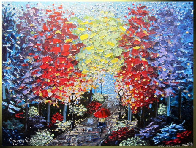 park city palette knife paintings