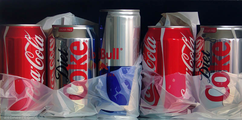 5 photo realistic painting still life