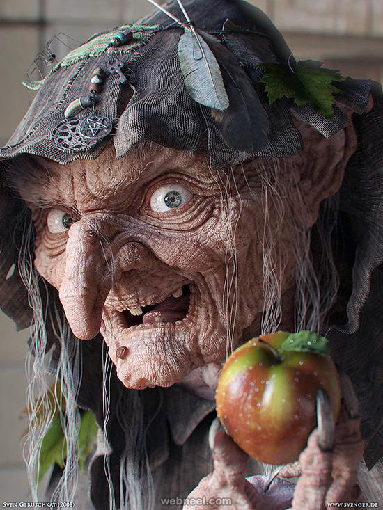 evil witch 3d character by sven geruschkat