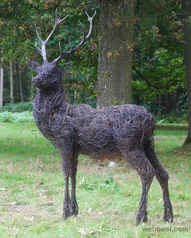 wire sculpture animals