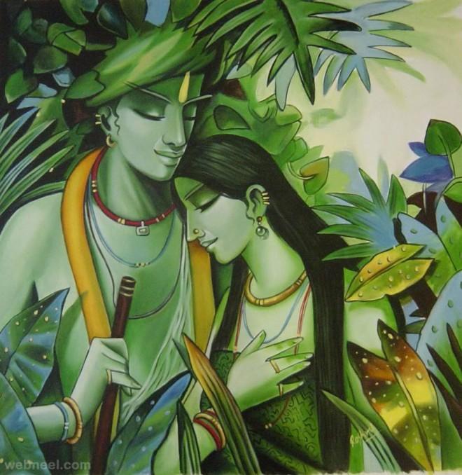 indian paintings krishna