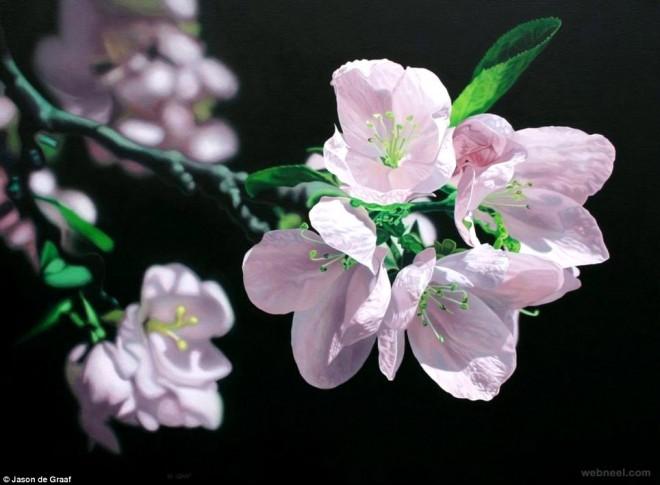 acrylic painting flower