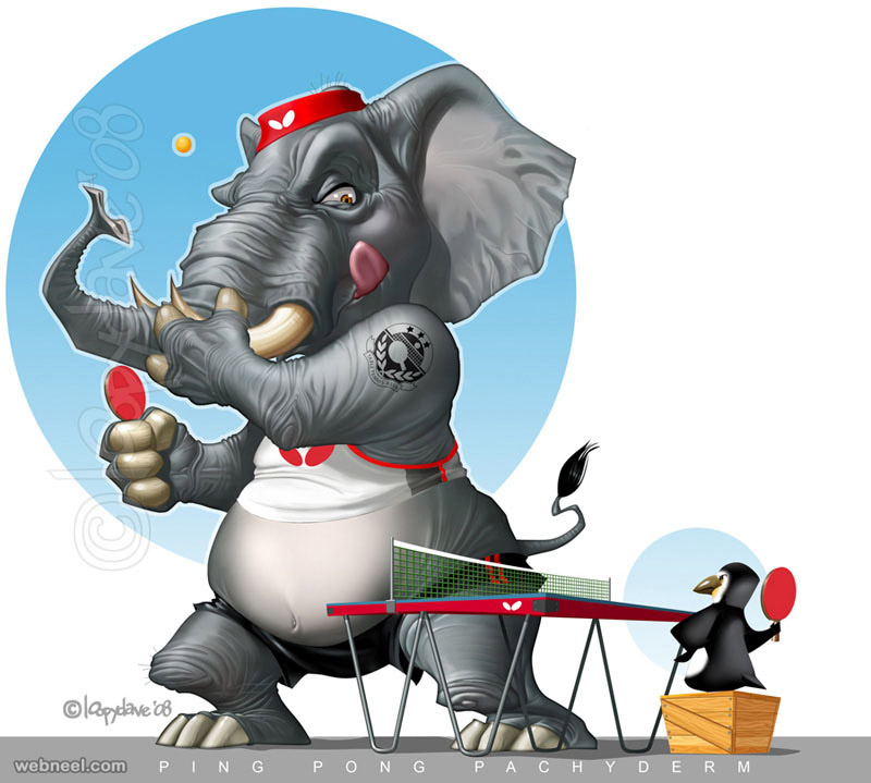 elephant digital paintings loopy dave
