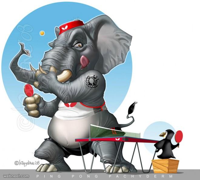 elephant digital paintings loopy dave
