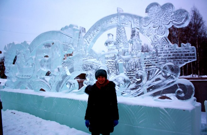 big ice sculpture