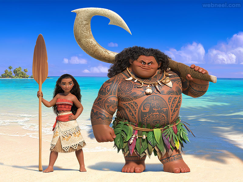 moana animation movie list 2016