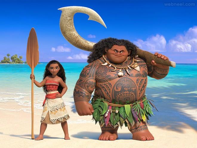 moana animation movie list 2016