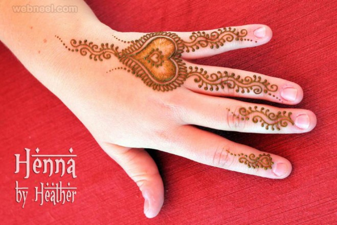 mehndi design heart