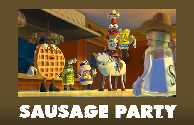 sausage party animation movie list 2016