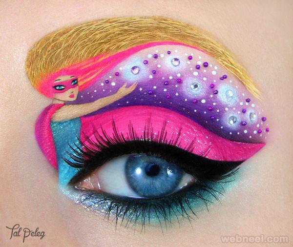 barbie eyes makeup art by tal peleg