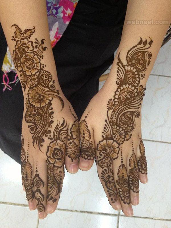 mehndi design back hand