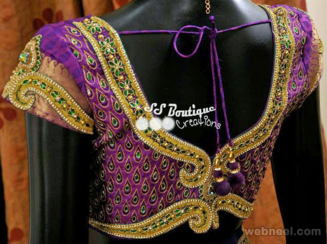 wedding backless blouse design by ps