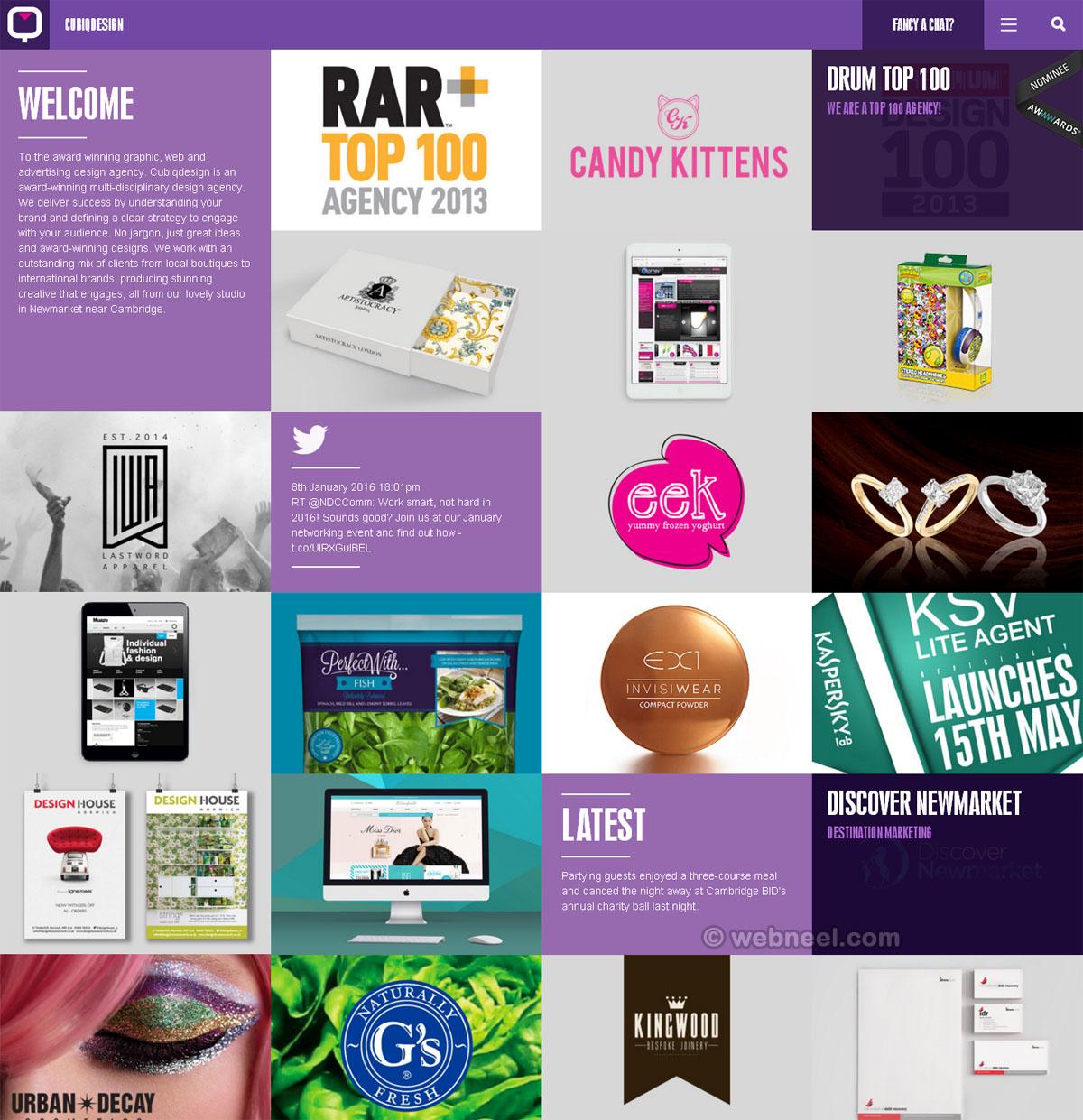 beautiful website design cubiqdesign