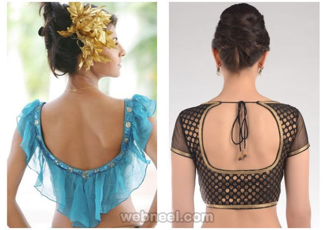 neck blouse design