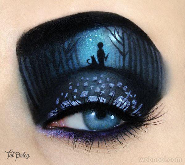 cemetry eye makeup idea