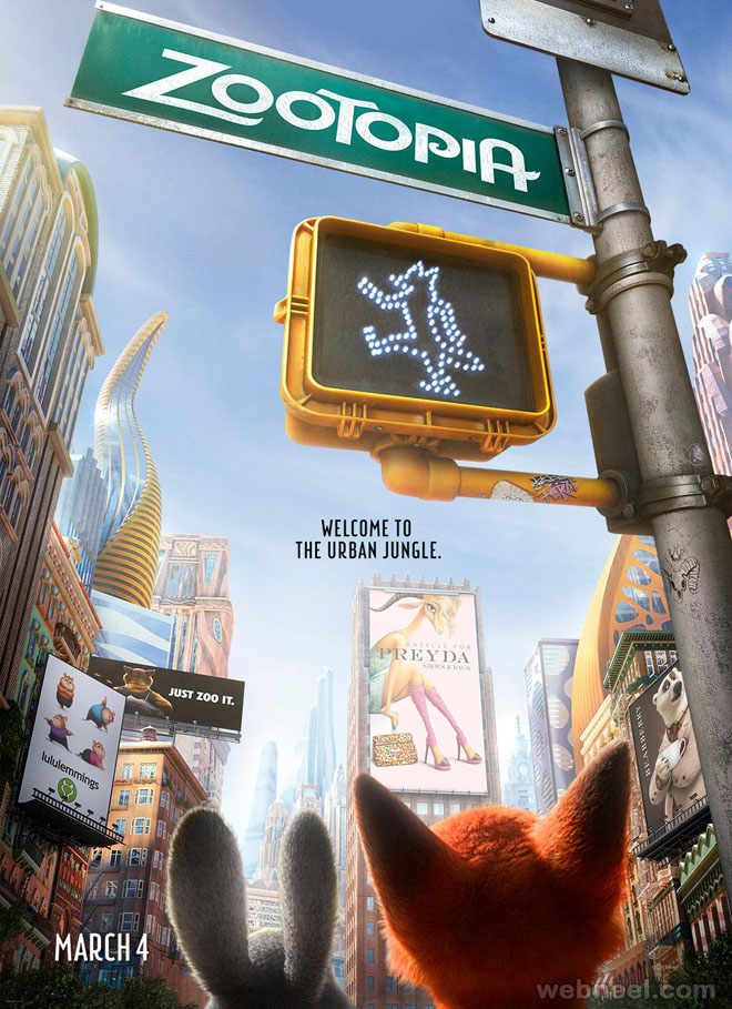 zootopia poster animation movie list 2016