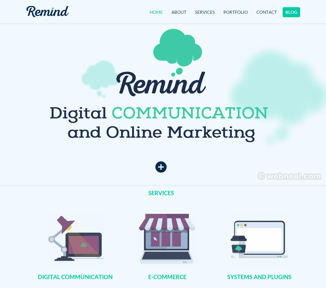 beautiful website design remind